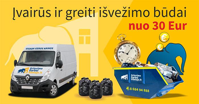 Atliekų išvežimas mikroautobusu